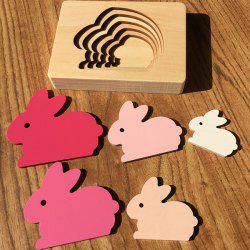 Animal Cartoon 3D Puzzle Multilayer Puzzle Baby Wooden Toys -
