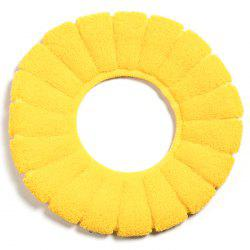 Pumpkin Pattern O-shaped Toilet Seat Thickening Plush Cover Winter Warm Universal -