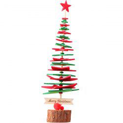 Festive Party Decoration Non-woven Five-pointed Star DIY Christmas Tree Puzzle Assembled Christmas Ornaments -