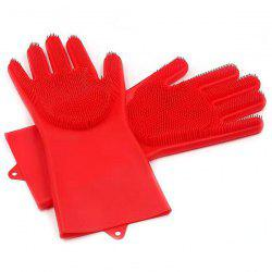Magic Silicone Dishwashing Multifunctional Insulation Wear-resistant Household Kitchen Cleaning Gloves -
