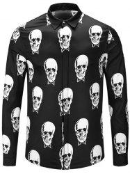 Autumn and Winter 3D Long Shirt Black and White -