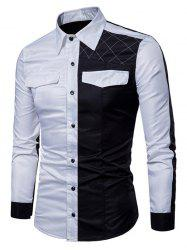 Men's Large Size Youth Wild Long-sleeved Shirt -