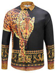 Men's Autumn and Winter Tiger Long Shirt -