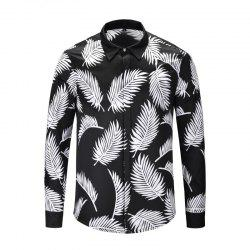 Autumn and Winter Long Shirt Black and White -