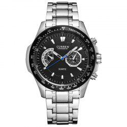 Waterproof Casual Men's Steel Belt Quartz Watch -