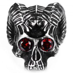 Men Stainless Steel Skull Ring -