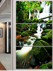 Forest Waterfall Print Unframed Canvas Paintings -