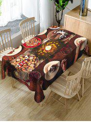 Christmas Cookie Fabric Waterproof Table Cloth -