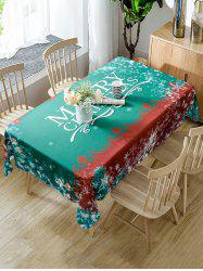 Christmas Snowflake Fabric Waterproof Table Cloth -
