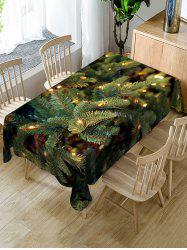 Christmas Leaf Fabric Waterproof Table Cloth -