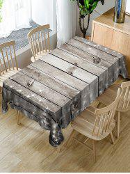 Christmas Wooden Fabric Waterproof Table Cloth -