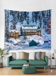Christmas Snow House Printed Tapestry Art Decoration -