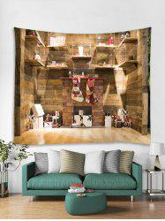 3D Christmas Gift Wooden Cabinet Tapestry Art Decoration -