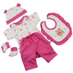 18-inch Simulation Baby Rebirth Doll Cotton Bear Clothes -