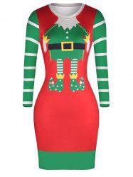 Women 3D Digital Print Holiday Dress Sexy Tight Body Bag Hip Dress -