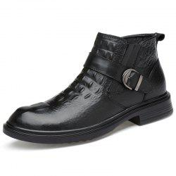 G1107 Solid Color Leather Men Boots -