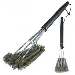 18 Inch Three Head Stainless Steel Wire Oven Grill Cleaning Brush -