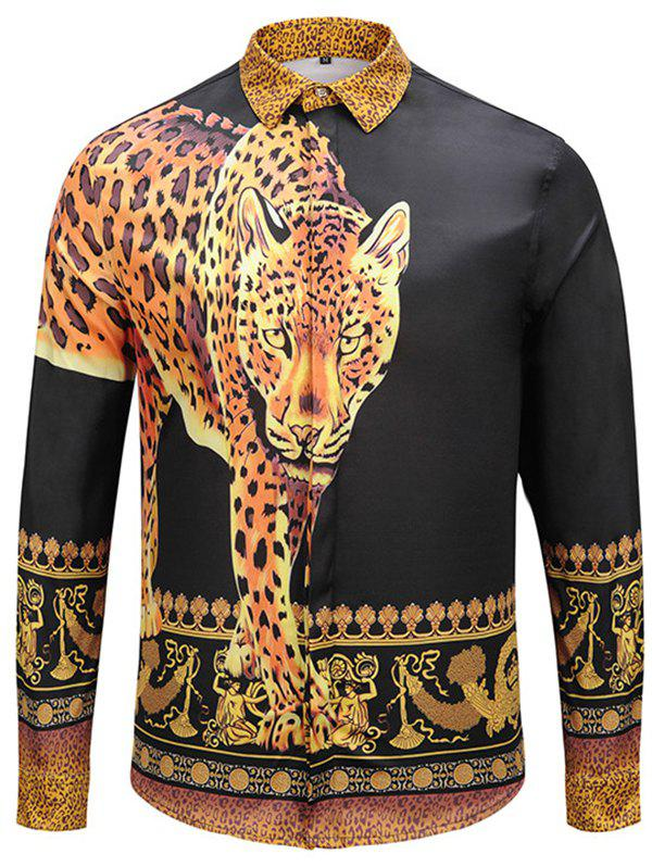 Store Men's Autumn and Winter Tiger Long Shirt
