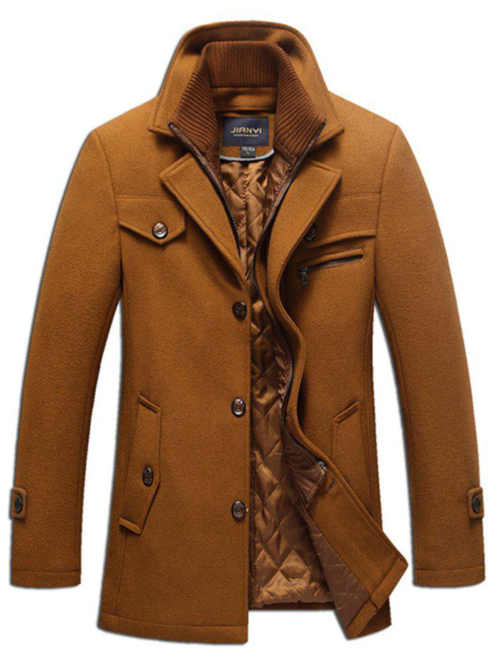 0eaf09e9a Men's Autumn and Winter Business Casual Windbreaker Plus Cotton Thick  Double Collar Long Wool Coat