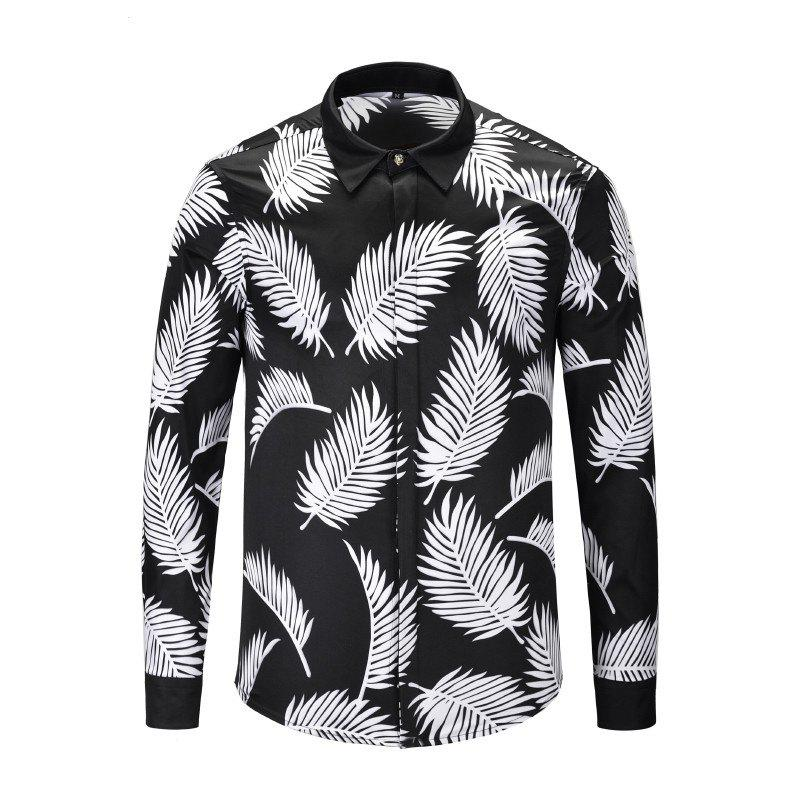 Latest Autumn and Winter Long Shirt Black and White