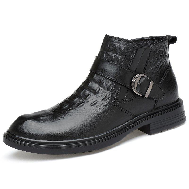 Buy G1107 Solid Color Leather Men Boots