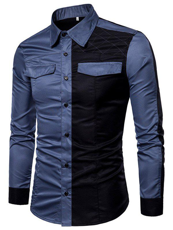 Outfit Men's Large Size Youth Wild Long-sleeved Shirt