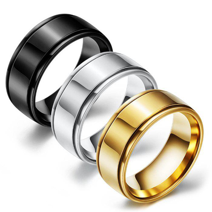 Cheap Mirrored Two-slot Stainless Steel Ring