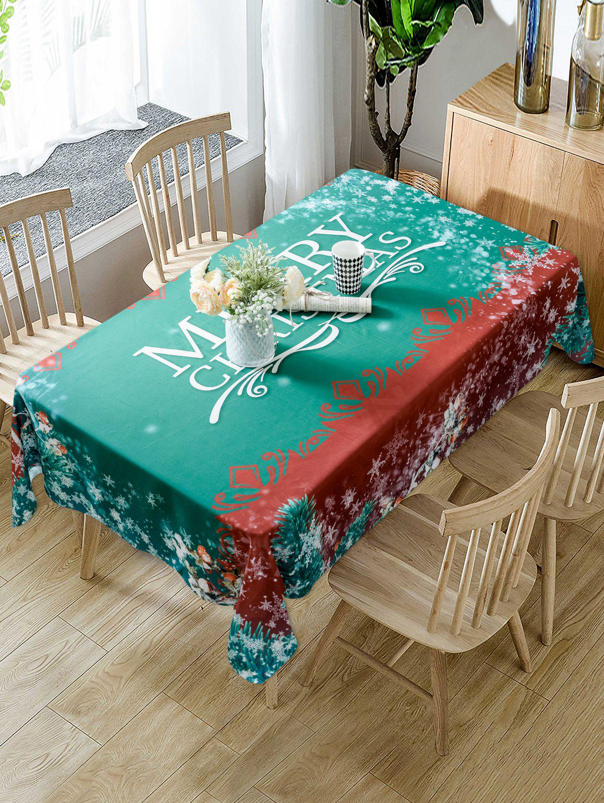 Outfits Christmas Snowflake Fabric Waterproof Table Cloth