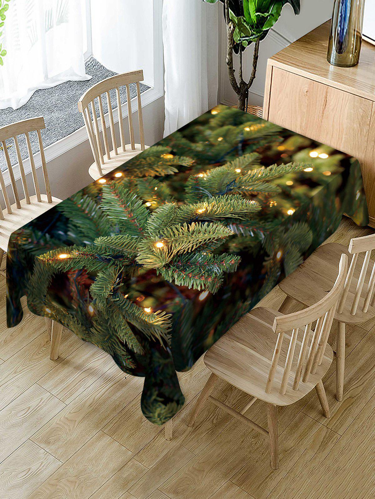 Shop Christmas Leaf Fabric Waterproof Table Cloth