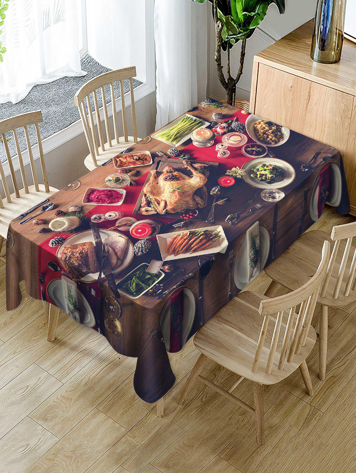 Shop Christmas Dinner Printed Fabric Waterproof Table Cloth