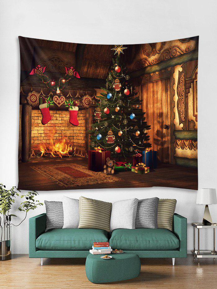 Unique Vintage Christmas Tree Gift Tapestry Art Decoration