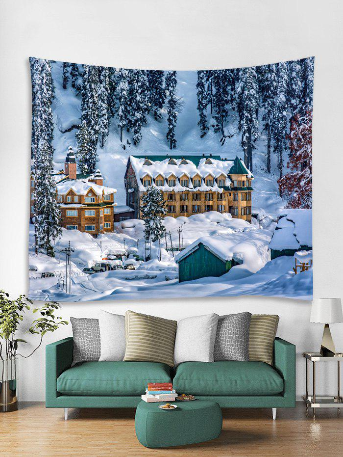 Affordable Christmas Snow House Printed Tapestry Art Decoration