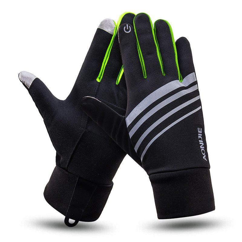 Discount AONIJIE Autumn Winter Outdoor Sports Running Gloves Unisex Windproof Warm Touch Screen