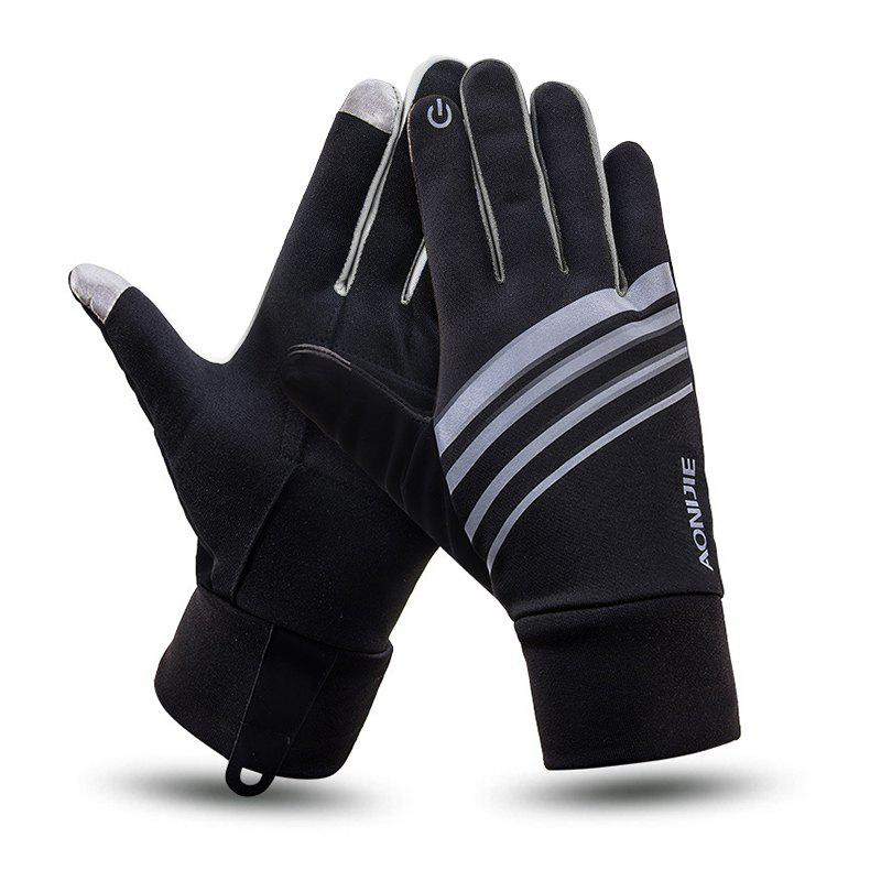 Sale AONIJIE Autumn Winter Outdoor Sports Running Gloves Unisex Windproof Warm Touch Screen