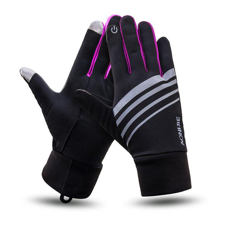 Online AONIJIE Autumn Winter Outdoor Sports Running Gloves Unisex Windproof Warm Touch Screen