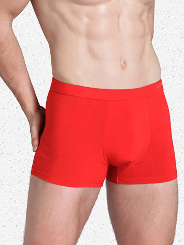 New Men Comfortable Boxer Leisure Cotton Breathable Red