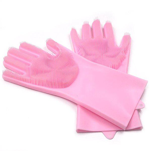 Outfits Magic Silicone Dishwashing Multifunctional Insulation Wear-resistant Household Kitchen Cleaning Gloves