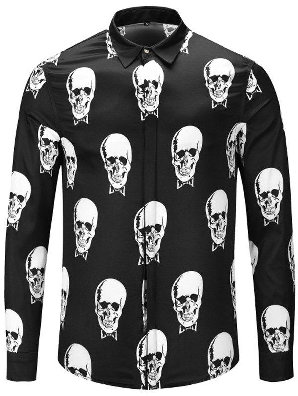 Cheap Autumn and Winter 3D Long Shirt Black and White