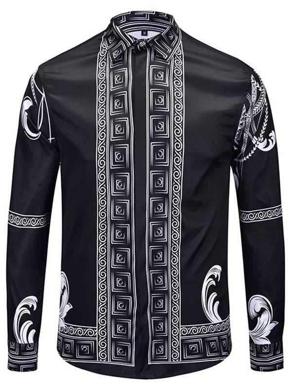 Buy Men Autumn Winter Long 3D Shirt