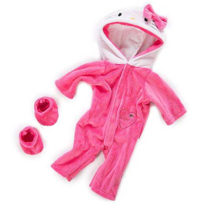 Affordable 18 Inch Simulation Baby Rebirth Doll Cartoon Kitten Clothes