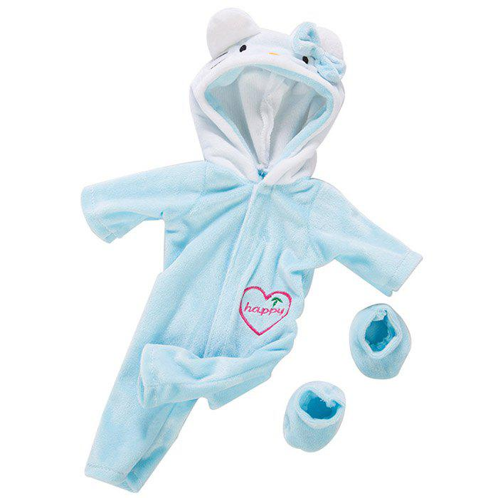 Store 18 Inch Simulation Baby Rebirth Doll Cartoon Kitten Clothes