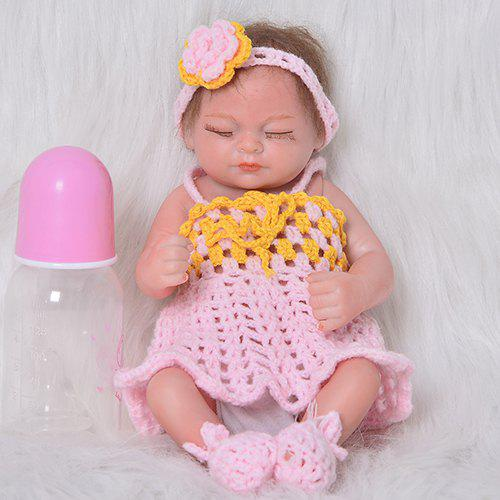 Unique 11 inch Mini Simulation Baby Closed Eyes Reborn Doll Comfort Toy