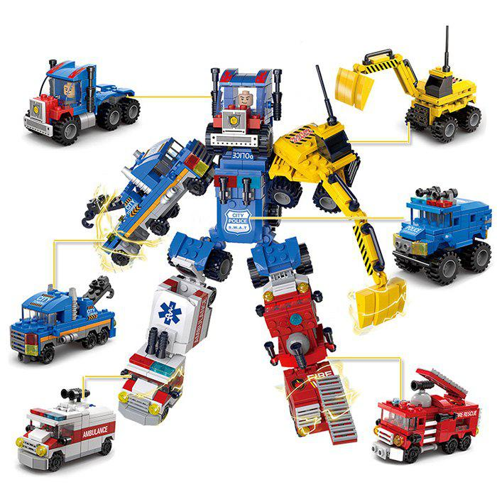 Discount Six-in-one Car Assembly Deformation Robot Engineering Vehicle Toy