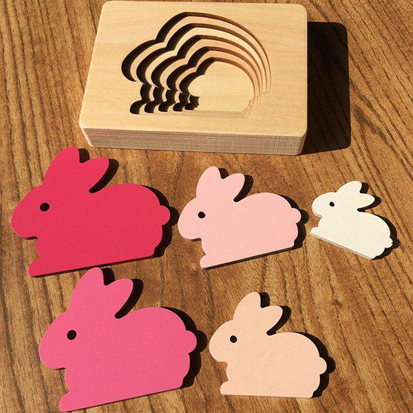 Outfits Animal Cartoon 3D Puzzle Multilayer Puzzle Baby Wooden Toys