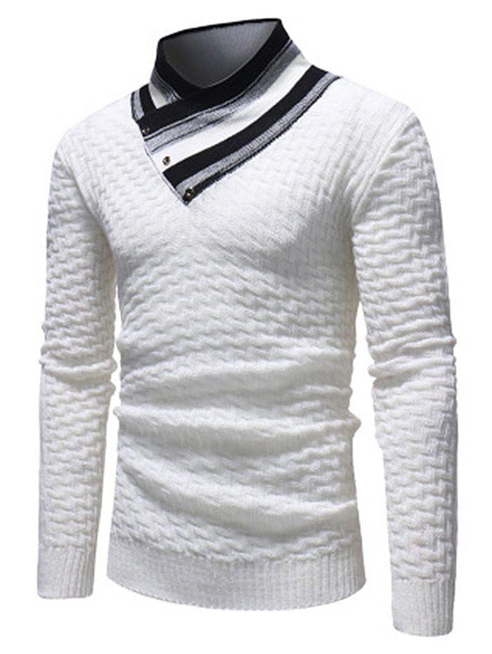 Outfits Men's Casual Slim Turtleneck Sweater Fashion Lingge Trendy Knit Jacket