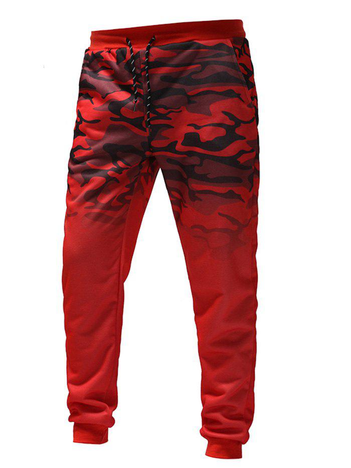 Trendy Men's Gradient Camouflage Casual Sports Trousers