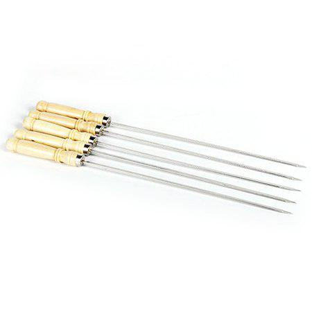 Online Stainless Steel Wooden Handle Barbecue Sign 10pcs