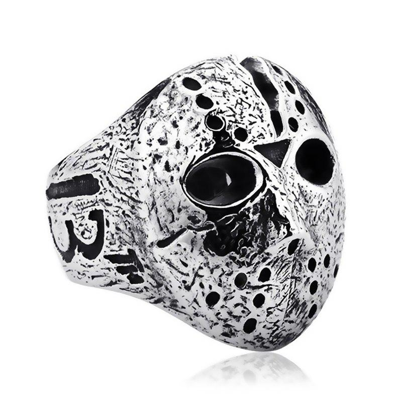 Shop Men's Titanium Steel Pattern Mask Ring