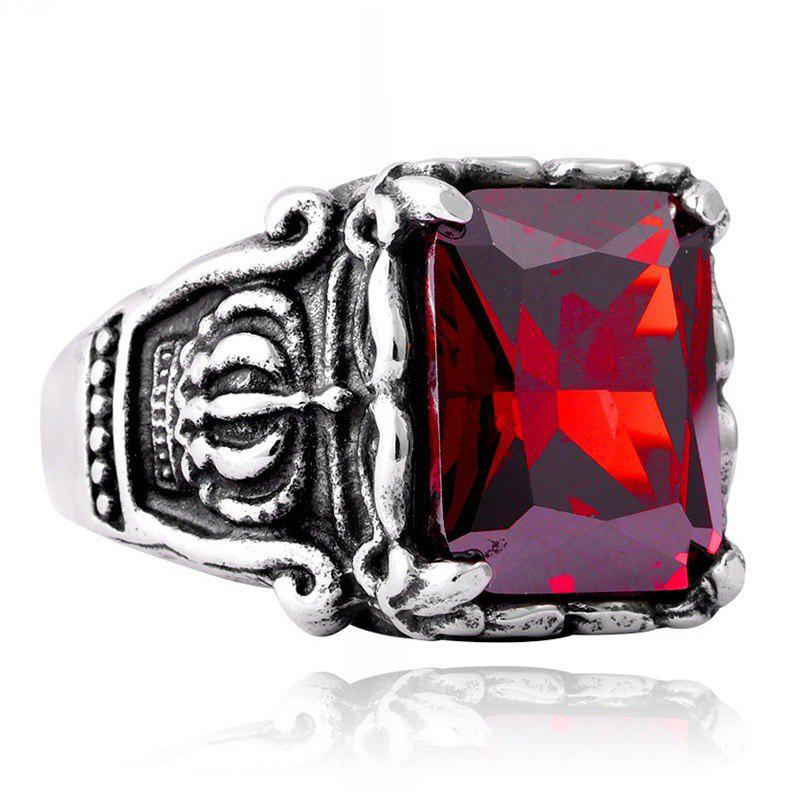 Latest Men's Titanium Steel Inlaid Zircon Crown Ring