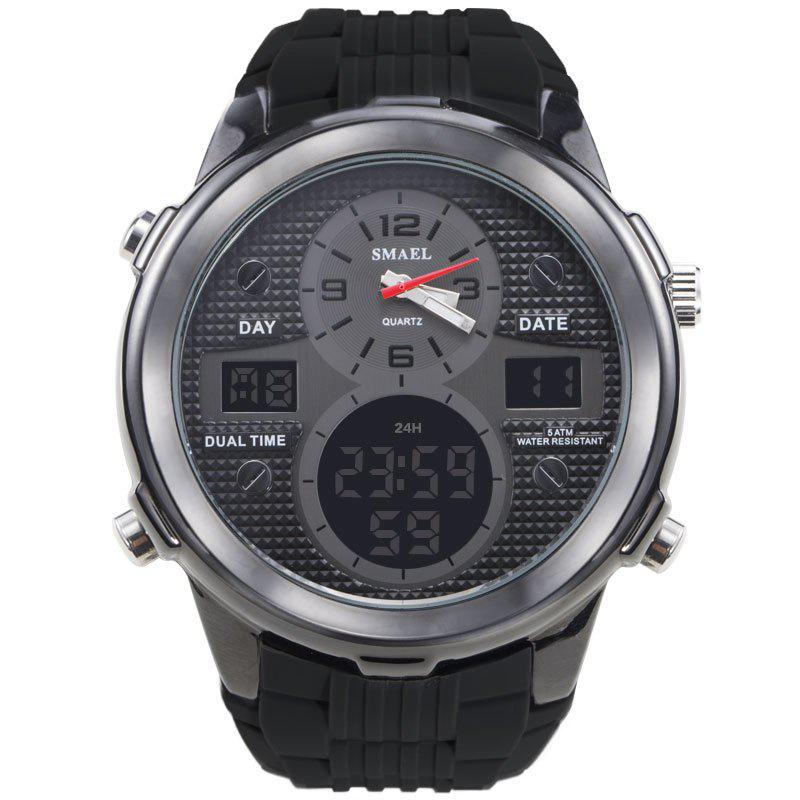 Discount Sports Waterproof Double Display Men's Multi-function Alloy Electronic Watch